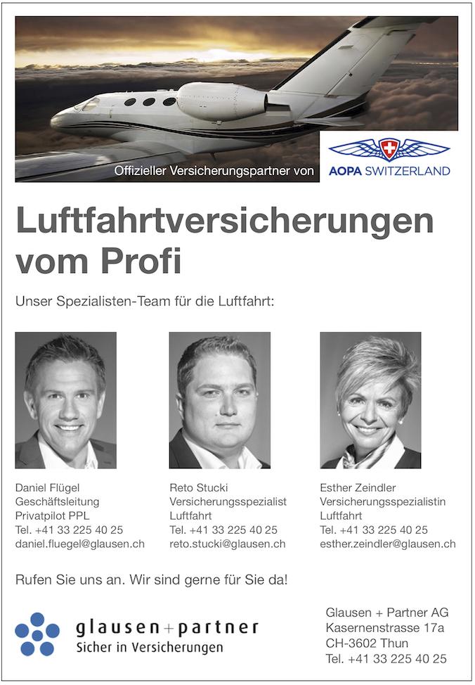 Glausen + Partner Luftfahrtversicherungen
