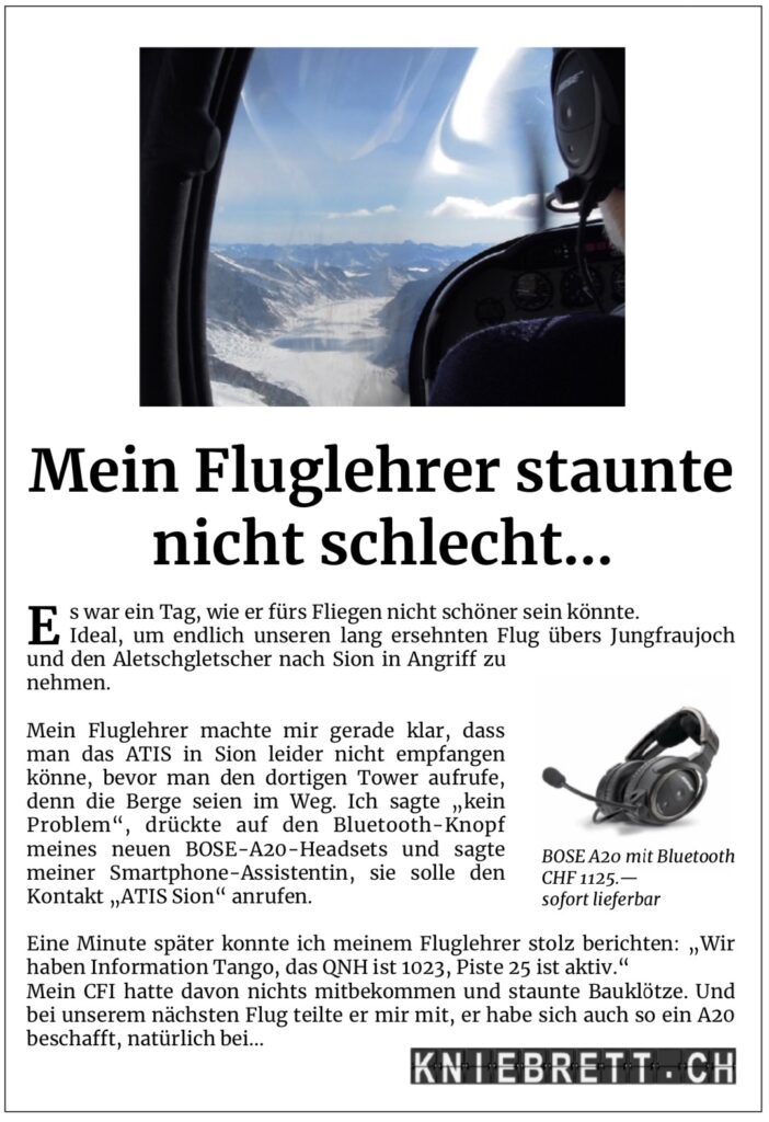 kniebrett.ch Aviatik-Zubehör
