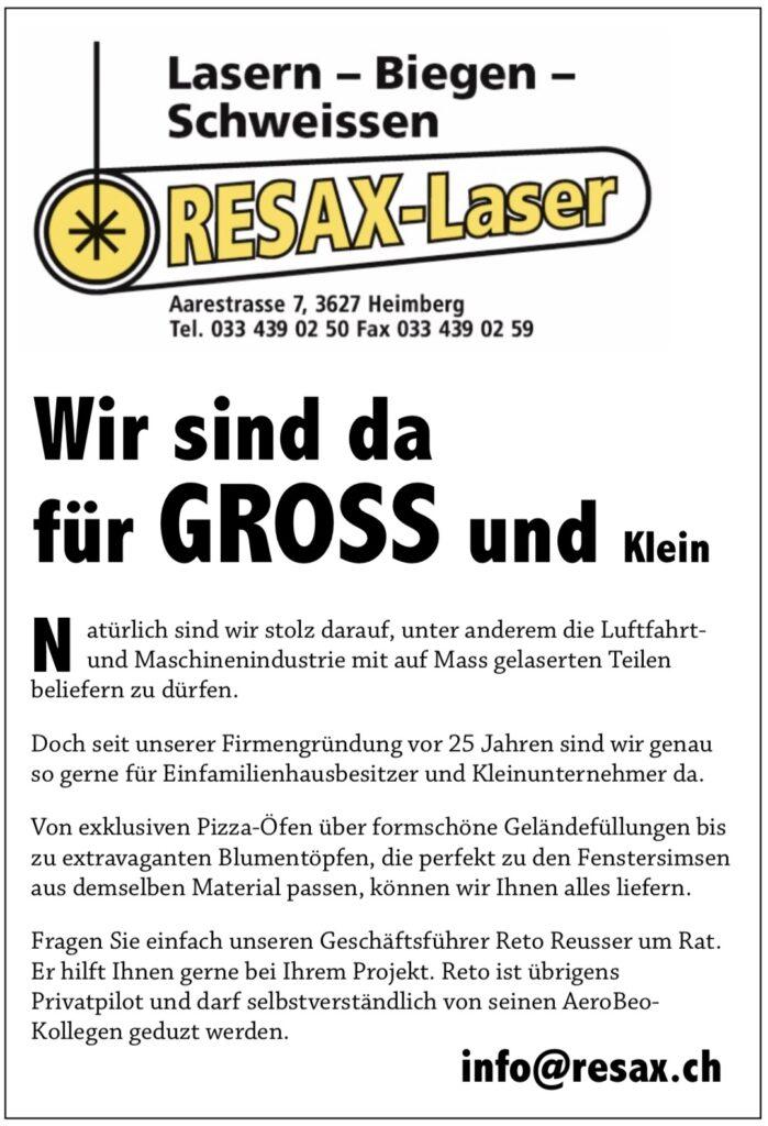 Resax Lasern Biegen Schweissen